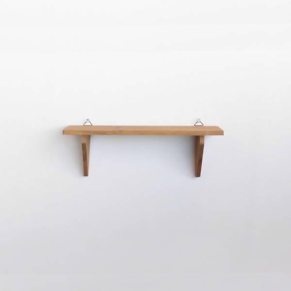 木製ハンギングシェルフ ブラウン